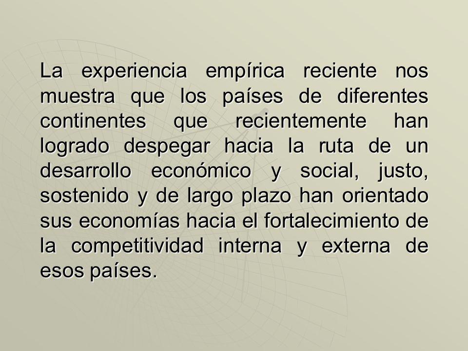 Competitividad: es procurar que el entorno económico, social y político en el que actúan los ciudadanos -individuos y empresas- y desarrollan sus capa