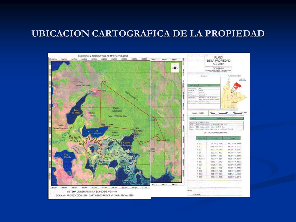 UBICACION CARTOGRAFICA DE LA PROPIEDAD