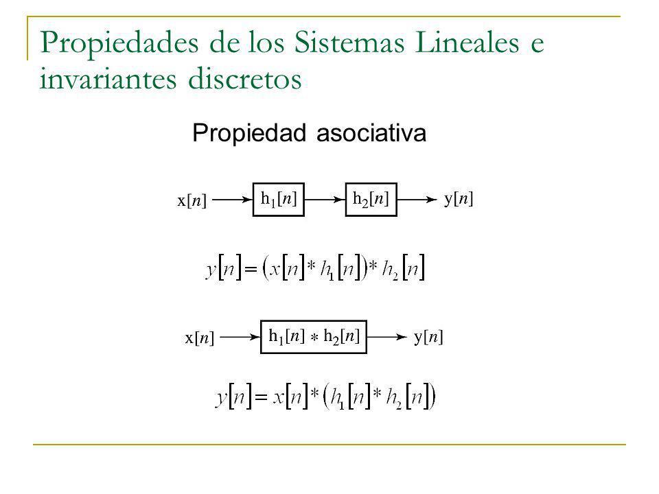 Propiedades de los Sistemas Lineales e invariantes discretos Propiedad asociativa