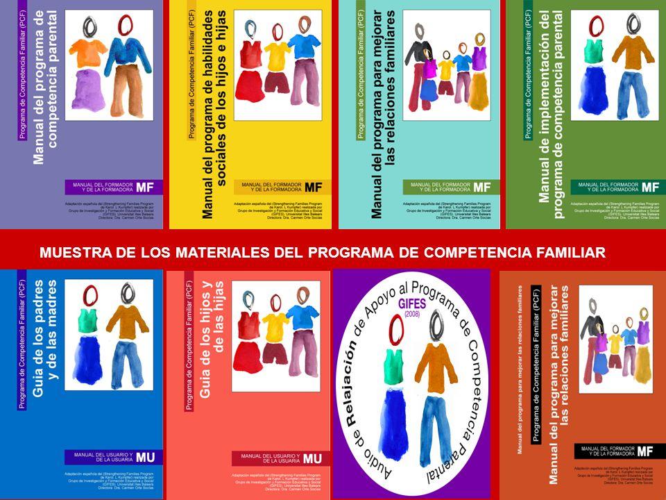 MUESTRA DE LOS MATERIALES DEL PROGRAMA DE COMPETENCIA FAMILIAR