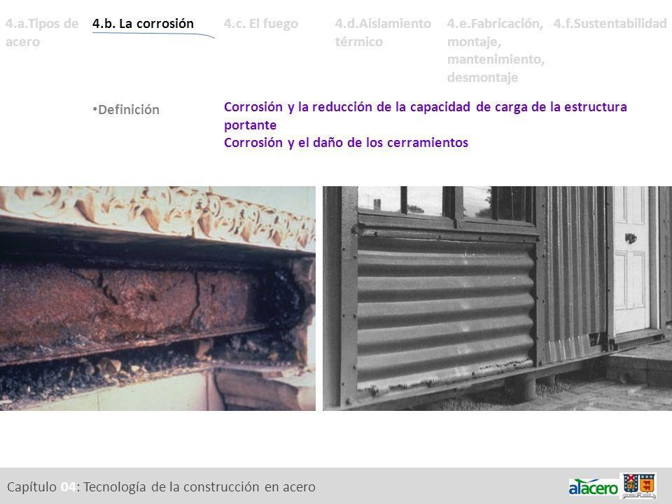Capítulo 04: Tecnología de la construcción en acero 4.a.Tipos de acero Corrosión y la reducción de la capacidad de carga de la estructura portante Cor