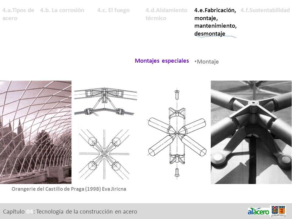 Capítulo 04: Tecnología de la construcción en acero 4.a.Tipos de acero 4.d.Aislamiento térmico Conductividad y puentes térmicos. 4.f.Sustentabilidad4.