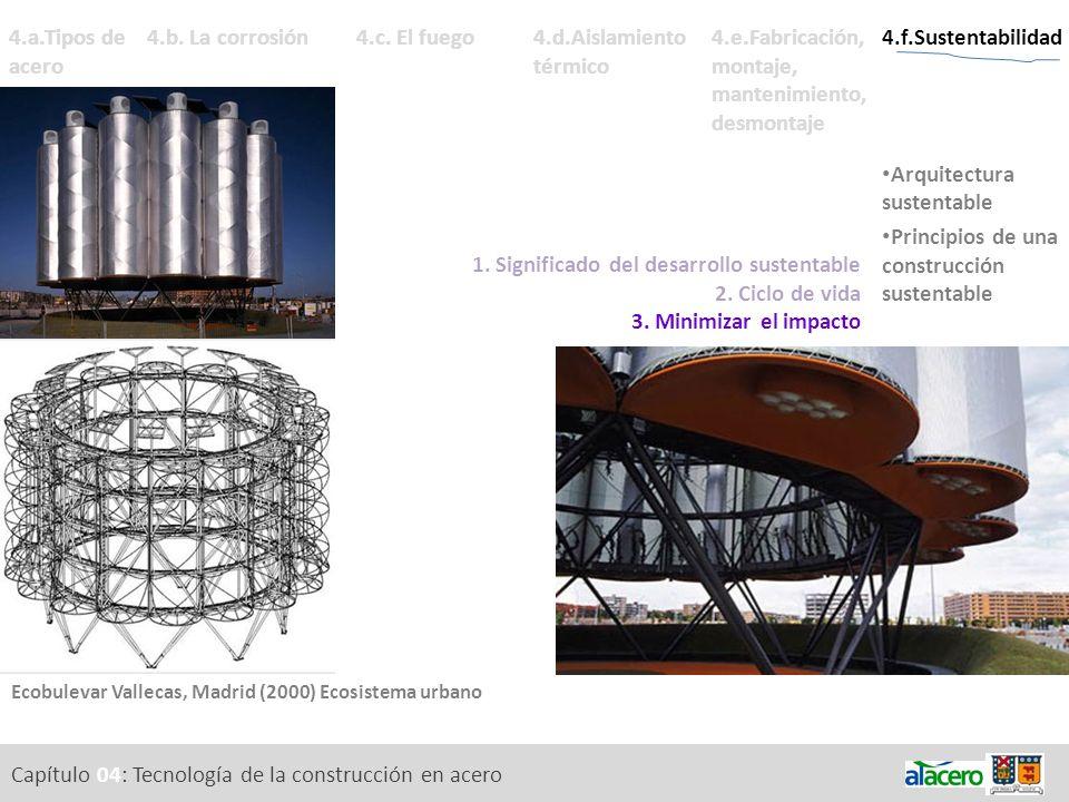 Capítulo 04: Tecnología de la construcción en acero 4.a.Tipos de acero 4.e.Fabricación, montaje, mantenimiento, desmontaje Variables. Fabricación. Mon