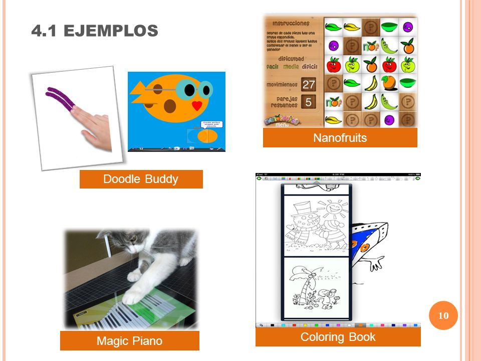 10 4.1 EJEMPLOS Doodle Buddy Coloring Book Magic Piano Nanofruits