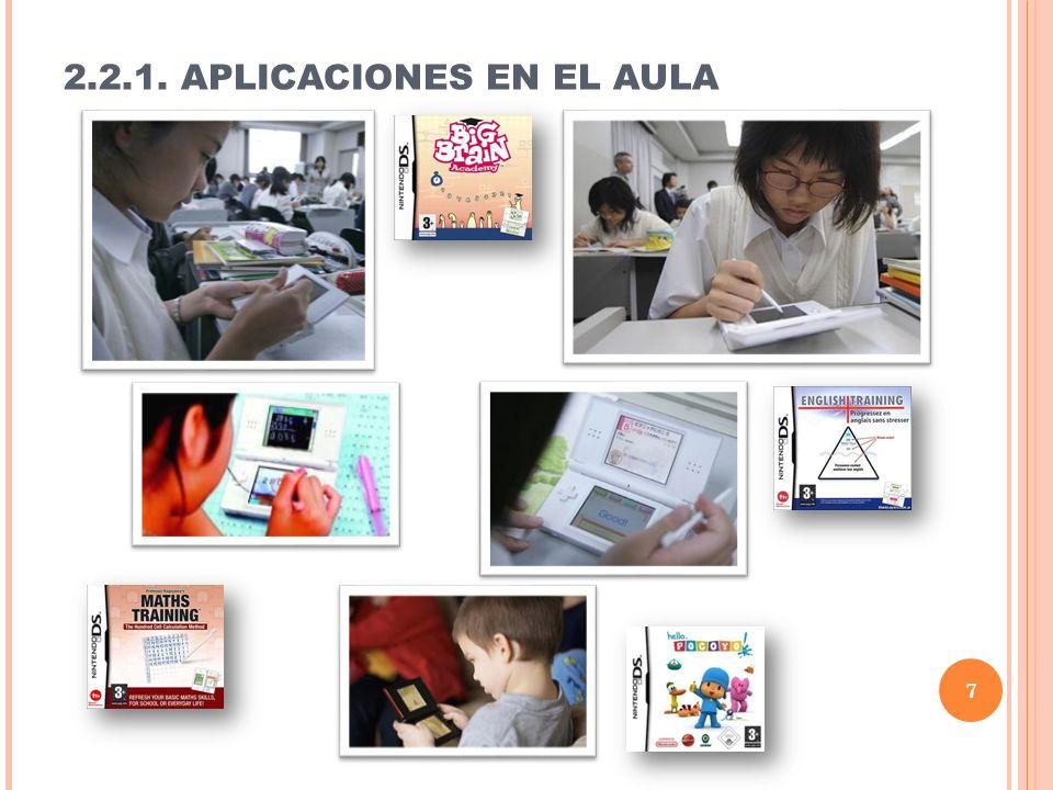 7 2.2.1. APLICACIONES EN EL AULA