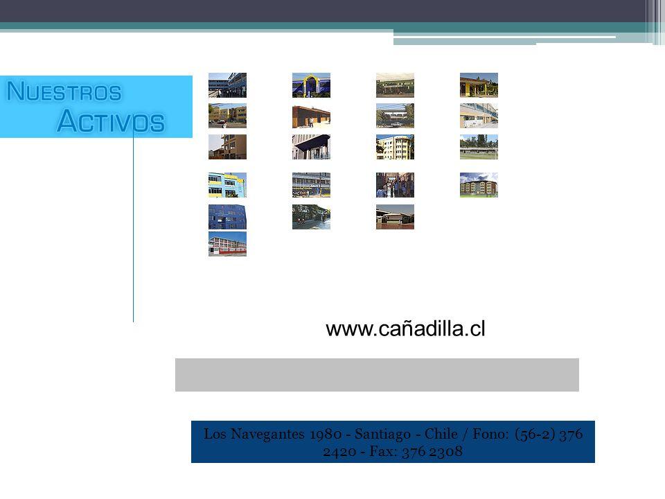 www.cañadilla.cl Los Navegantes 1980 - Santiago - Chile / Fono: (56-2) 376 2420 - Fax: 376 2308