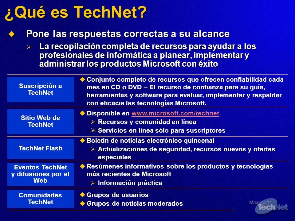 ¿Qué es TechNet? Pone las respuestas correctas a su alcance Pone las respuestas correctas a su alcance La recopilación completa de recursos para ayuda