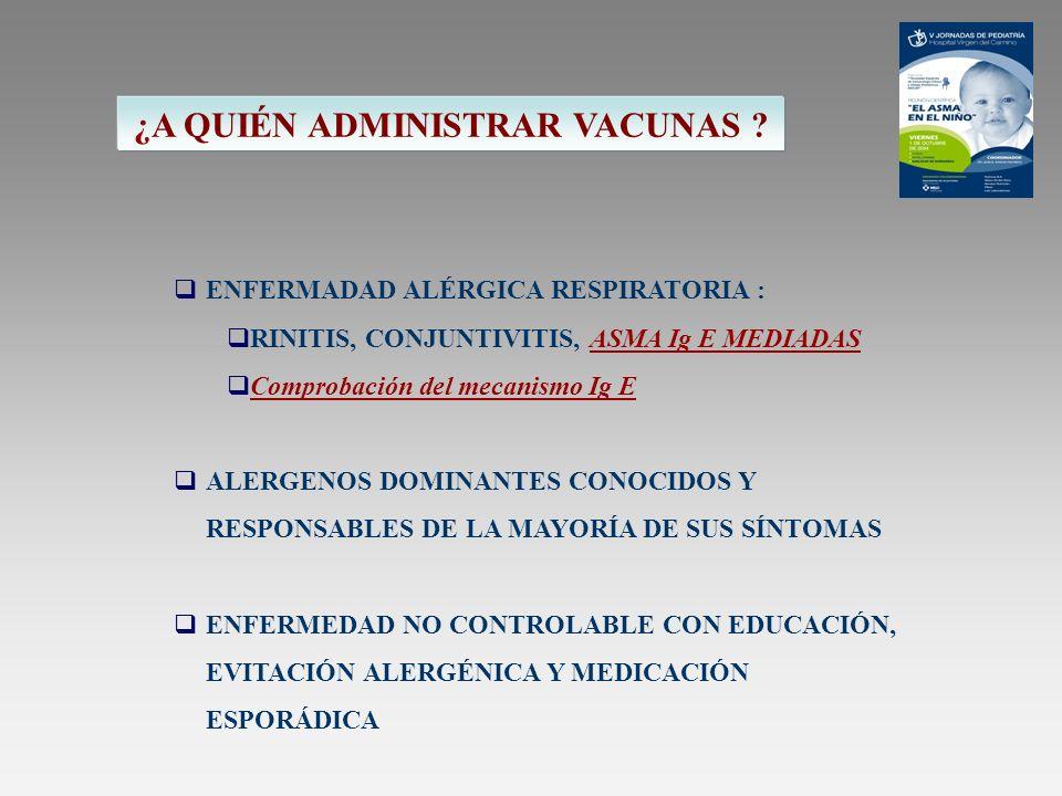 FECHA DE CADUCIDAD FECHA DE LA ÚLTIMA DOSIS Y TOLERANCIA COMPROBAR VIAL, DOSIS A ADMINISTRAR Y FECHA COMPROBAR ESTABILIDAD CLÍNICA DEL PACIENTE PREGUNTAR POR POSIBLES NUEVAS CONTRAINDICACIONES ANOTAR DOSIS ADMINISTRADA, FECHA Y VIAL RECORDAR AL PACIENTE LOS 30 MINUTOS EN OBSERVACIÓN VALORAR Y REGISTRAR LA TOLERANCIA DE LA DOSIS PRECAUCIONES EN LA ADMINISTRACCIÓN (Personal sanitario)