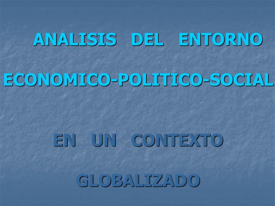 ANALISIS DEL ENTORNO ANALISIS DEL ENTORNOECONOMICO-POLITICO-SOCIAL EN UN CONTEXTO GLOBALIZADO
