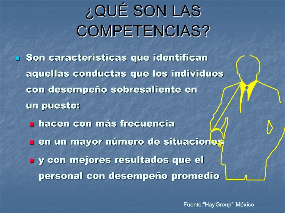 Son características que identifican aquellas conductas que los individuos con desempeño sobresaliente en un puesto: Son características que identifica