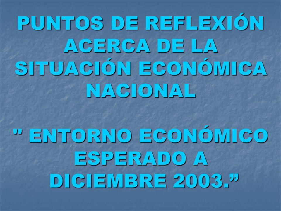 PUNTOS DE REFLEXIÓN ACERCA DE LA SITUACIÓN ECONÓMICA NACIONAL