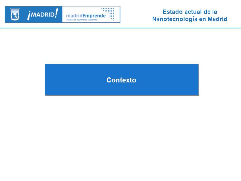 Estado actual de la Nanotecnología en Madrid 1.- Contexto Madrid Emprende es la Agencia de Desarrollo Económico del Ayuntamiento de Madrid.