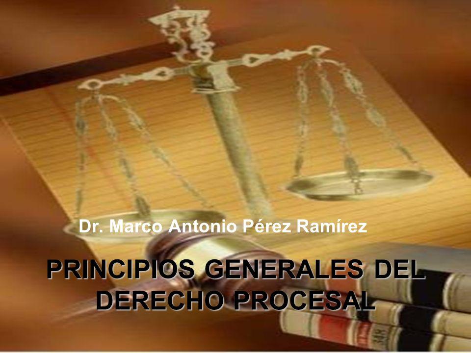 PRINCIPIOS GENERALES DEL DERECHO PROCESAL Dr. Marco Antonio Pérez Ramírez