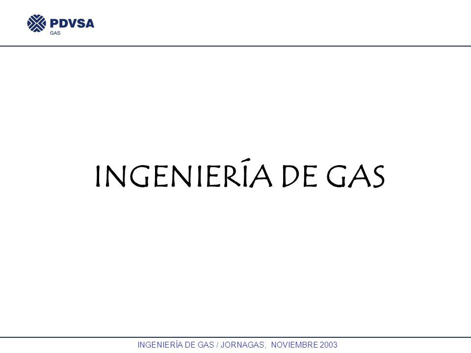 GAS INGENIERÍA DE GAS / JORNAGAS, NOVIEMBRE 2003 INGENIERÍA DE GAS