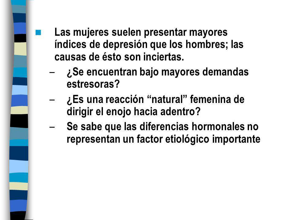 Causas de la depresión en la adolescencia Predisposición genética Muerte de un ser querido Padre o madre deprimido/a Ser impopular Pocos amigos cercan