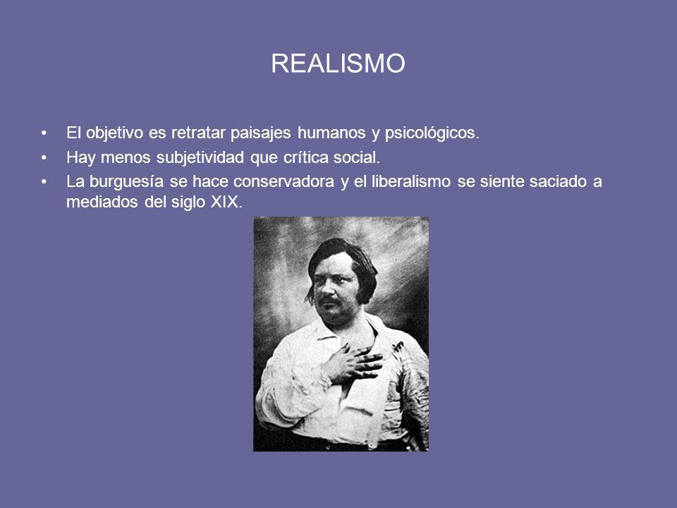 REALISMO El objetivo es retratar paisajes humanos y psicológicos.