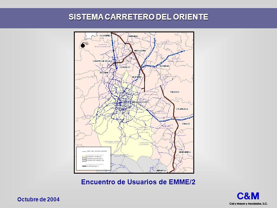 Encuentro de Usuarios de EMME/2 SISTEMA CARRETERO DEL ORIENTE Octubre de 2004
