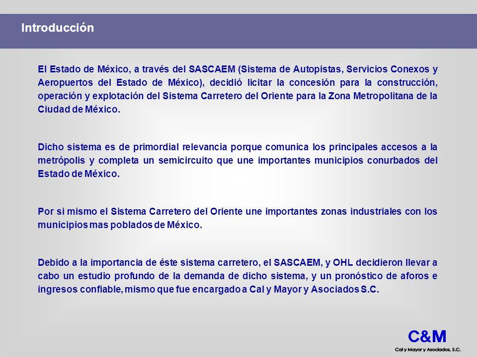 Introducción El Estado de México, a través del SASCAEM (Sistema de Autopistas, Servicios Conexos y Aeropuertos del Estado de México), decidió licitar