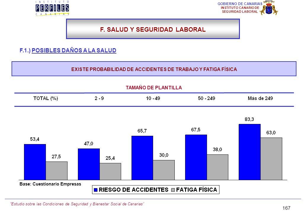 Estudio sobre las Condiciones de Seguridad y Bienestar Social de Canarias 166 GOBIERNO DE CANARIAS INSTITUTO CANARIO DE SEGURIDAD LABORAL F.1.) POSIBL