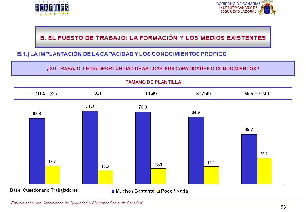 Estudio sobre las Condiciones de Seguridad y Bienestar Social de Canarias 52 GOBIERNO DE CANARIAS INSTITUTO CANARIO DE SEGURIDAD LABORAL B.1.) LA IMPL