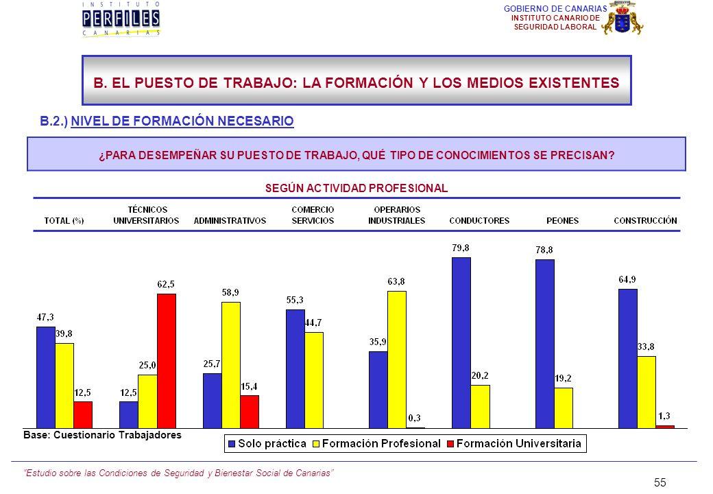 Estudio sobre las Condiciones de Seguridad y Bienestar Social de Canarias 54 GOBIERNO DE CANARIAS INSTITUTO CANARIO DE SEGURIDAD LABORAL B.2.) NIVEL D