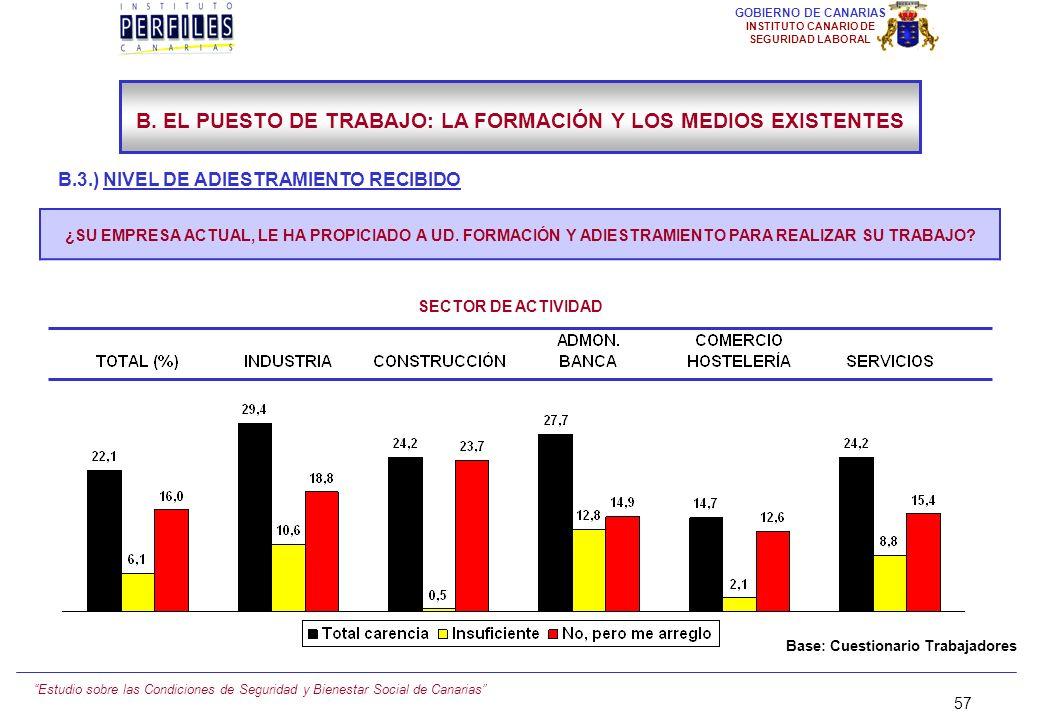 Estudio sobre las Condiciones de Seguridad y Bienestar Social de Canarias 56 GOBIERNO DE CANARIAS INSTITUTO CANARIO DE SEGURIDAD LABORAL B.3.) NIVEL D