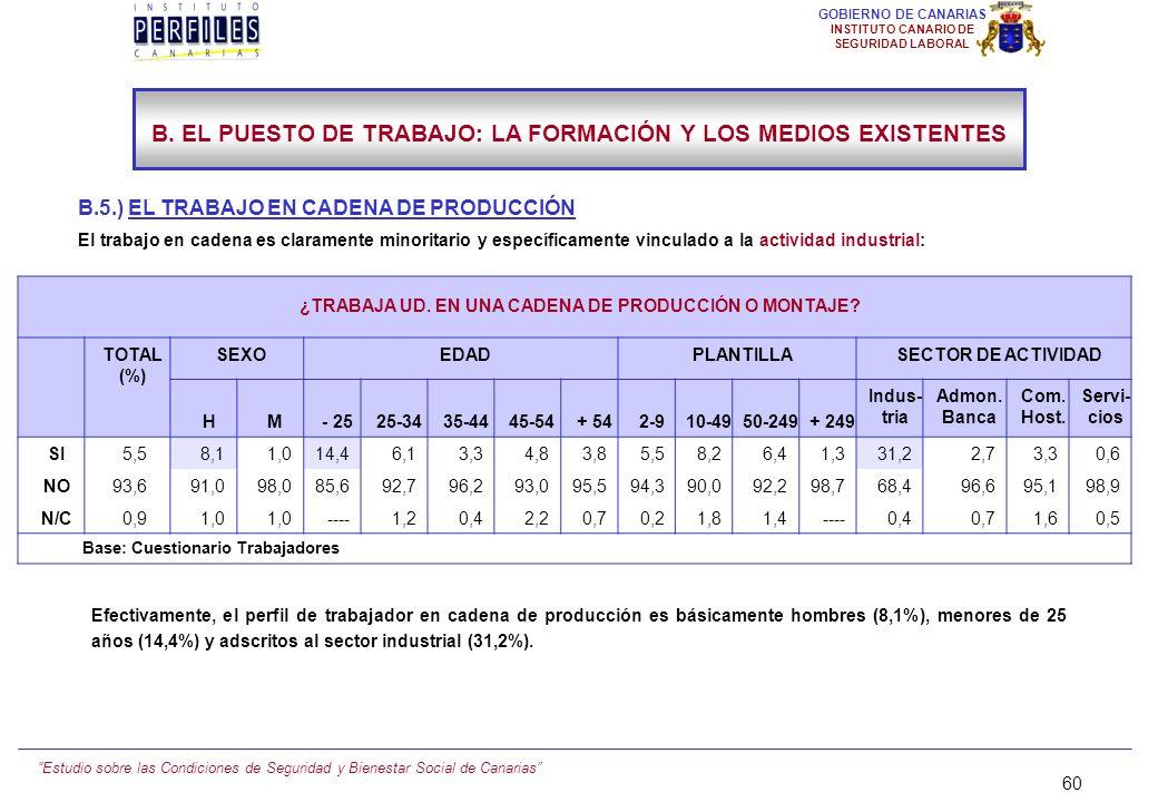 Estudio sobre las Condiciones de Seguridad y Bienestar Social de Canarias 59 GOBIERNO DE CANARIAS INSTITUTO CANARIO DE SEGURIDAD LABORAL ¿CUÁL ES LA S
