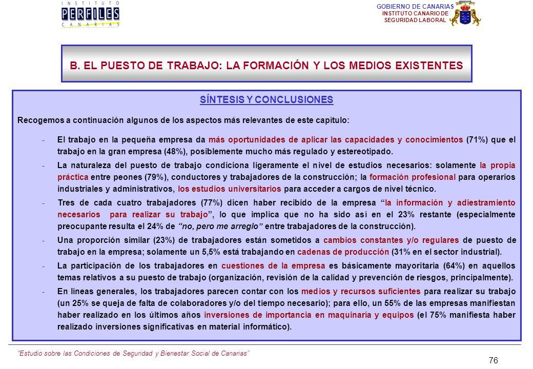Estudio sobre las Condiciones de Seguridad y Bienestar Social de Canarias 75 GOBIERNO DE CANARIAS INSTITUTO CANARIO DE SEGURIDAD LABORAL B.12.) LA REN