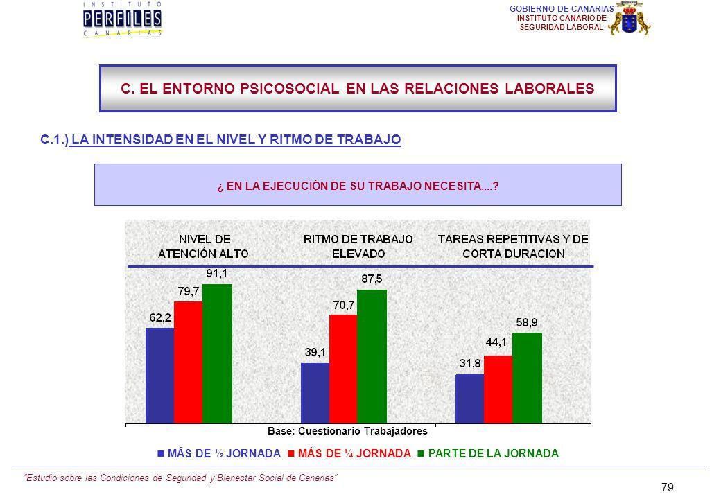 Estudio sobre las Condiciones de Seguridad y Bienestar Social de Canarias 78 GOBIERNO DE CANARIAS INSTITUTO CANARIO DE SEGURIDAD LABORAL C.1.) LA INTE