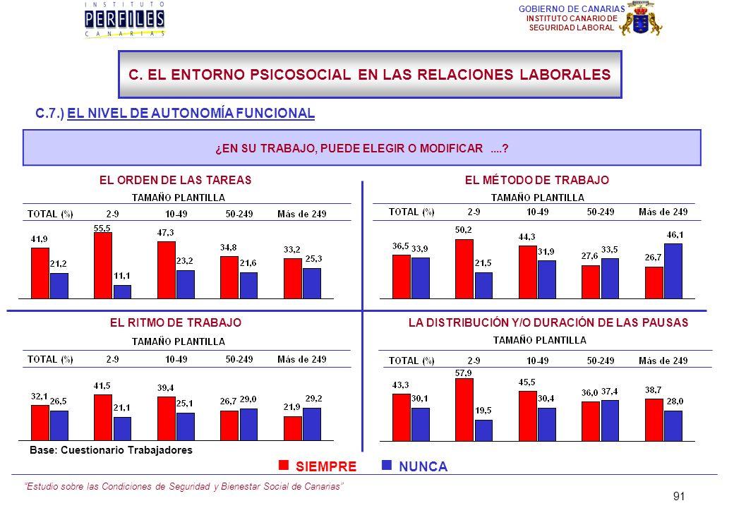 Estudio sobre las Condiciones de Seguridad y Bienestar Social de Canarias 90 GOBIERNO DE CANARIAS INSTITUTO CANARIO DE SEGURIDAD LABORAL C.7.) EL NIVE