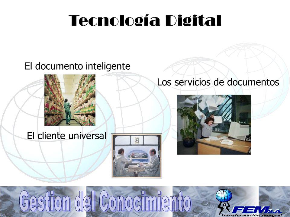 El cliente universal Tecnología Digital El documento inteligente Los servicios de documentos