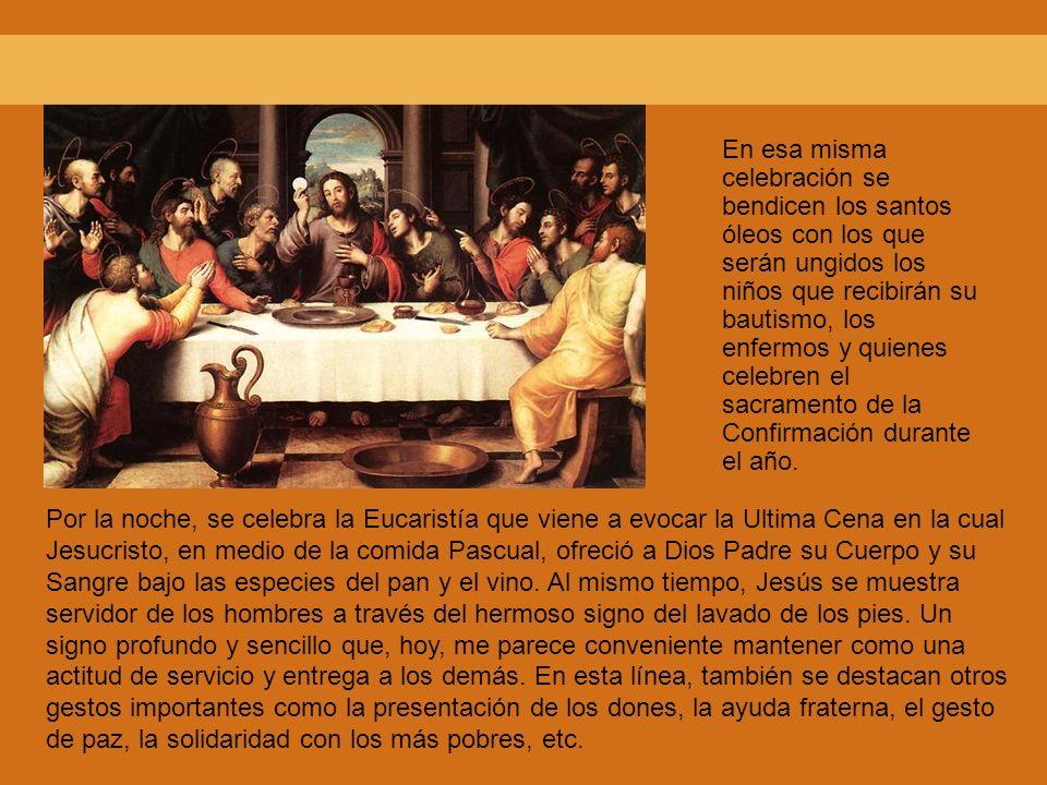 En esa misma celebración se bendicen los santos óleos con los que serán ungidos los niños que recibirán su bautismo, los enfermos y quienes celebren e