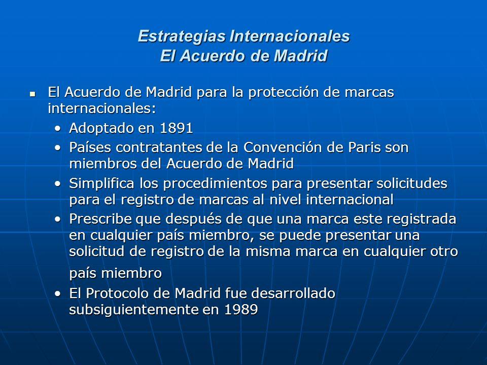 Estrategias Internacionales El Acuerdo de Madrid El Acuerdo de Madrid para la protección de marcas internacionales: El Acuerdo de Madrid para la prote