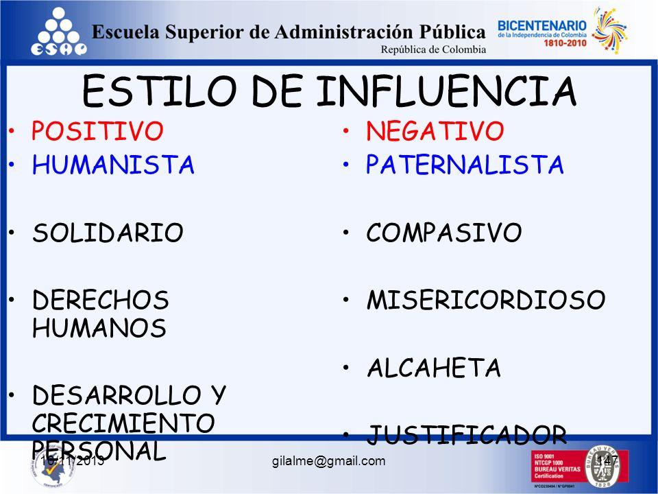 10/11/2013gilalme@gmail.com146 BASADO EN LA CONSIDERACION INFLUYE MEDIANTE LA FILANTROPIA Y EL DESARROLLO DEL SER HUMANO