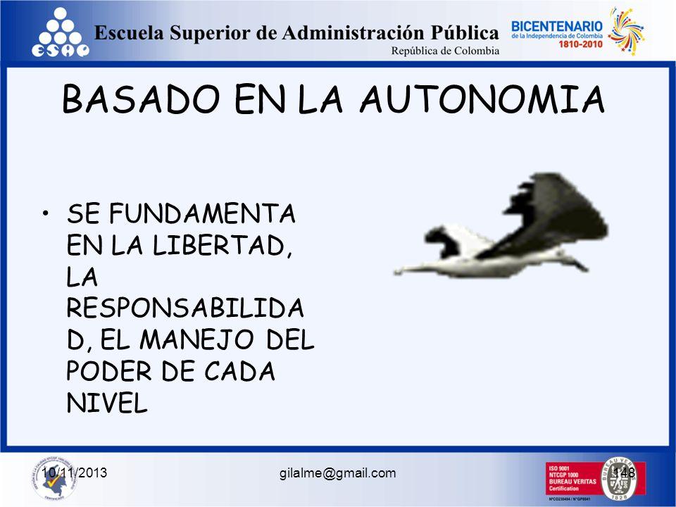 10/11/2013gilalme@gmail.com147 ESTILO DE INFLUENCIA POSITIVO HUMANISTA SOLIDARIO DERECHOS HUMANOS DESARROLLO Y CRECIMIENTO PERSONAL NEGATIVO PATERNALI