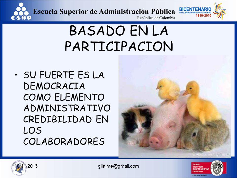 10/11/2013gilalme@gmail.com149 ESTILOS DE INFLUENCIA POSITIVO DELEGATIVO EMPODERAMIENTO DELEGACION AUTORIDAD RESPONSABILIDAD NEGATIVO RIENDA SUELTA IR