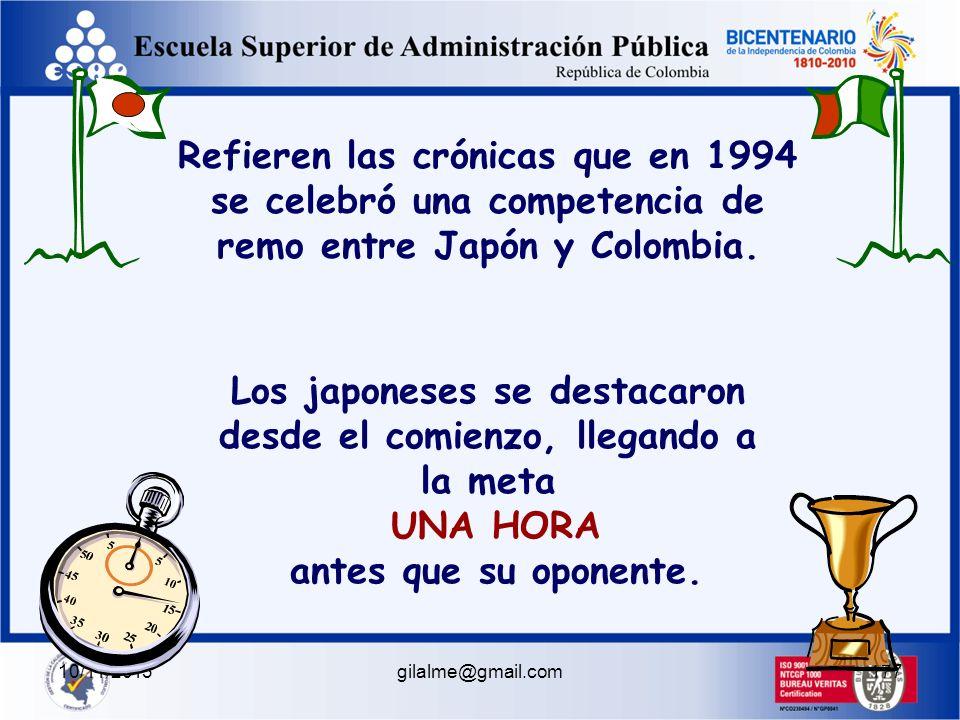 10/11/2013gilalme@gmail.com176 La cábula de los Colombianos y los Takatakas