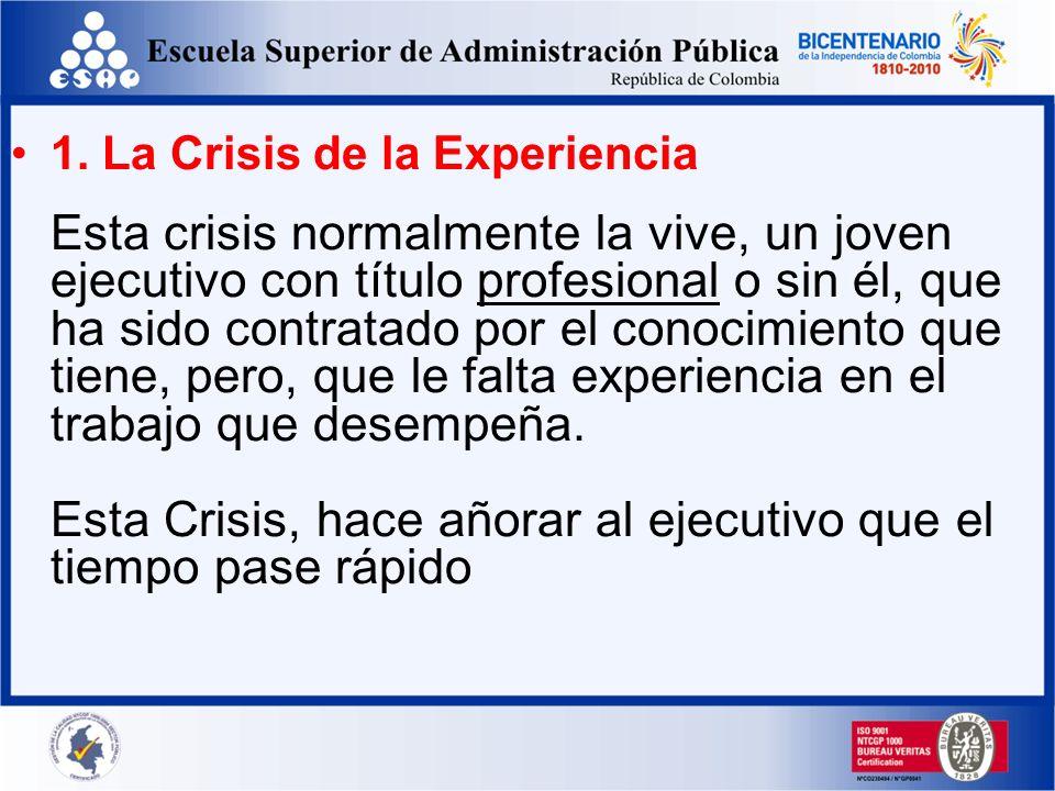 Las 8 crisis del ejecutivo Un ejecutivo a largo de su trayectoria se enfrenta a las llamadas