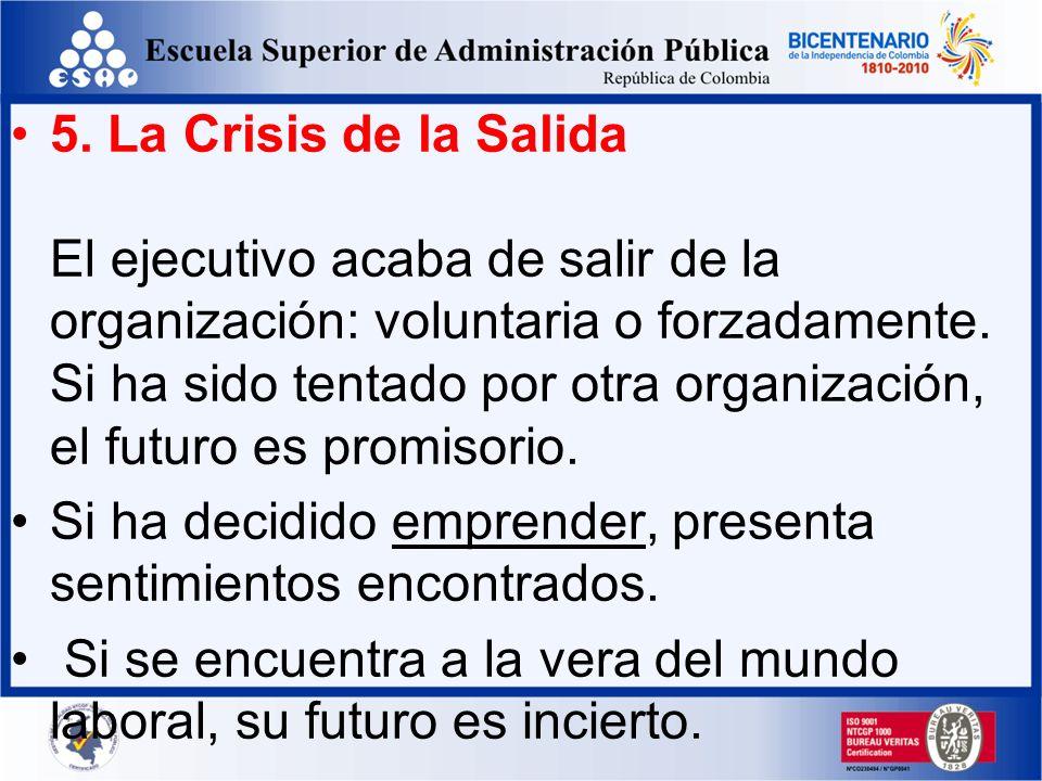 4. La Crisis de los Resultados El ejecutivo ha venido desenvolviendo una montaña de trabajo que tiene que desarrollar para alcanzar sus metas. No ha l