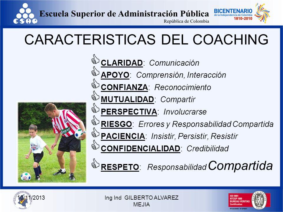 10/11/2013Ing Ind GILBERTO ALVAREZ MEJIA COACHING ES UN SISTEMA INTEGRAL Y FILOSOFÍA DE DIRECCIÓN PARA EL APRENDIZAJE Y DESARROLLO DEL LIDERAZGO, BASA