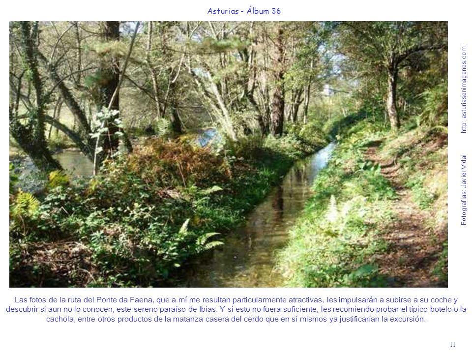 11 Asturias - Álbum 36 Fotografías: Javier Vidal http: asturiasenimagenes.com Las fotos de la ruta del Ponte da Faena, que a mí me resultan particular