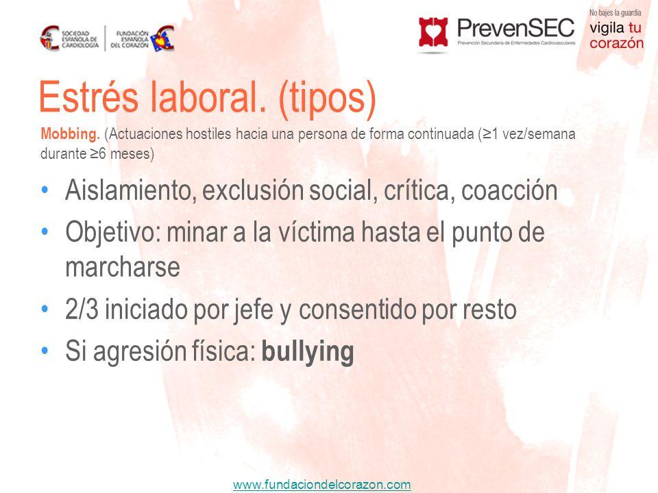 www.fundaciondelcorazon.com Aislamiento, exclusión social, crítica, coacción Objetivo: minar a la víctima hasta el punto de marcharse 2/3 iniciado por