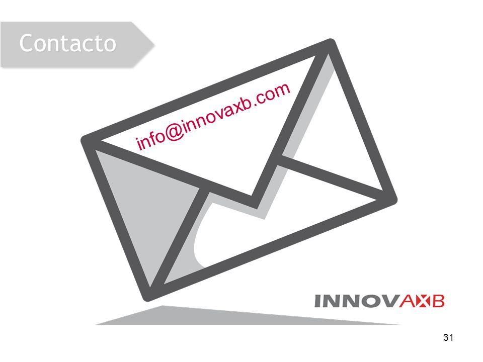 31 Contacto info@innovaxb.com
