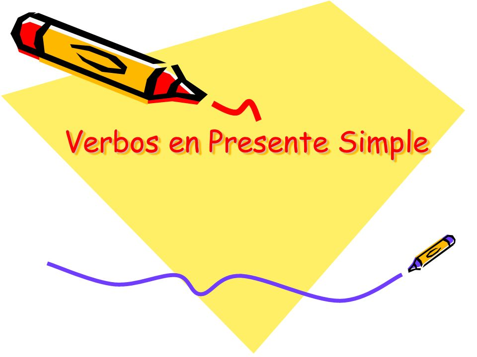 Verbos en Presente Simple