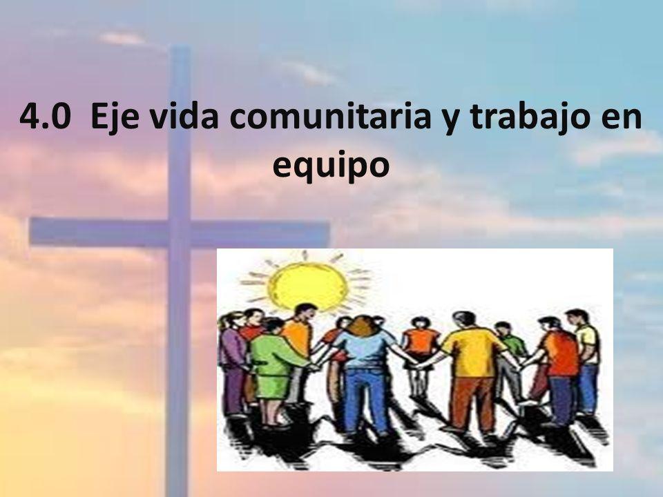 4.0 Eje vida comunitaria y trabajo en equipo