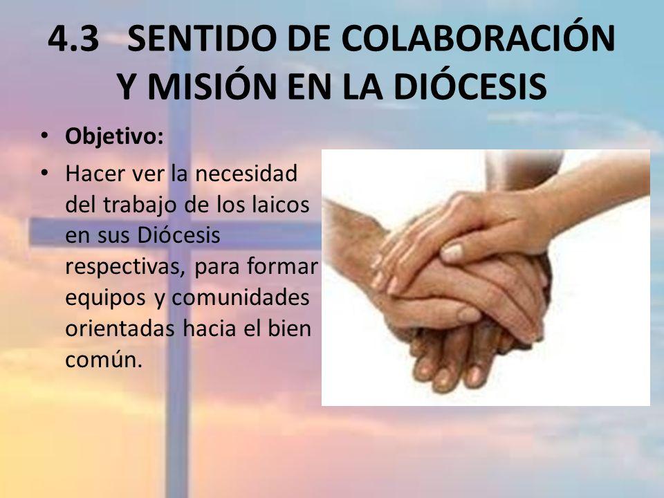 4.3.2 LA COMUNIDAD ECLESIAL NECESITA LA PARTICIPACIÓN DE LOS LAICOS …Por eso, vayan y hagan que todos los pueblos sean mis discípulos.