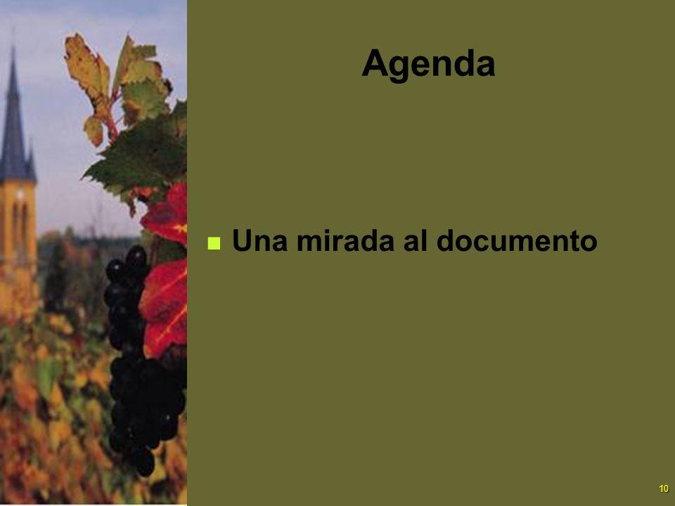 10 Agenda Una mirada al documento
