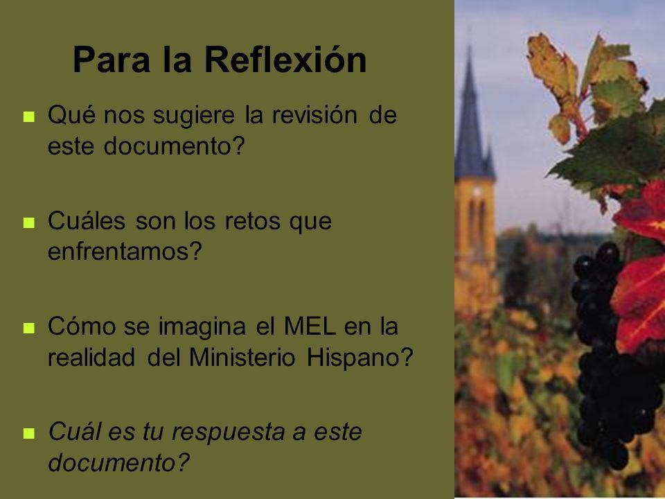 64 Para la Reflexión Qué nos sugiere la revisión de este documento? Cuáles son los retos que enfrentamos? Cómo se imagina el MEL en la realidad del Mi