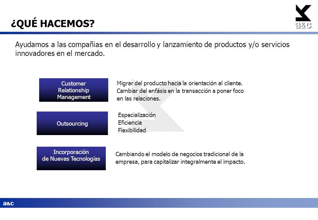 a&ca&c Migrar del producto hacia la orientación al cliente. Cambiar del enfásis en la transacción a poner foco en las relaciones. Especialización Efic