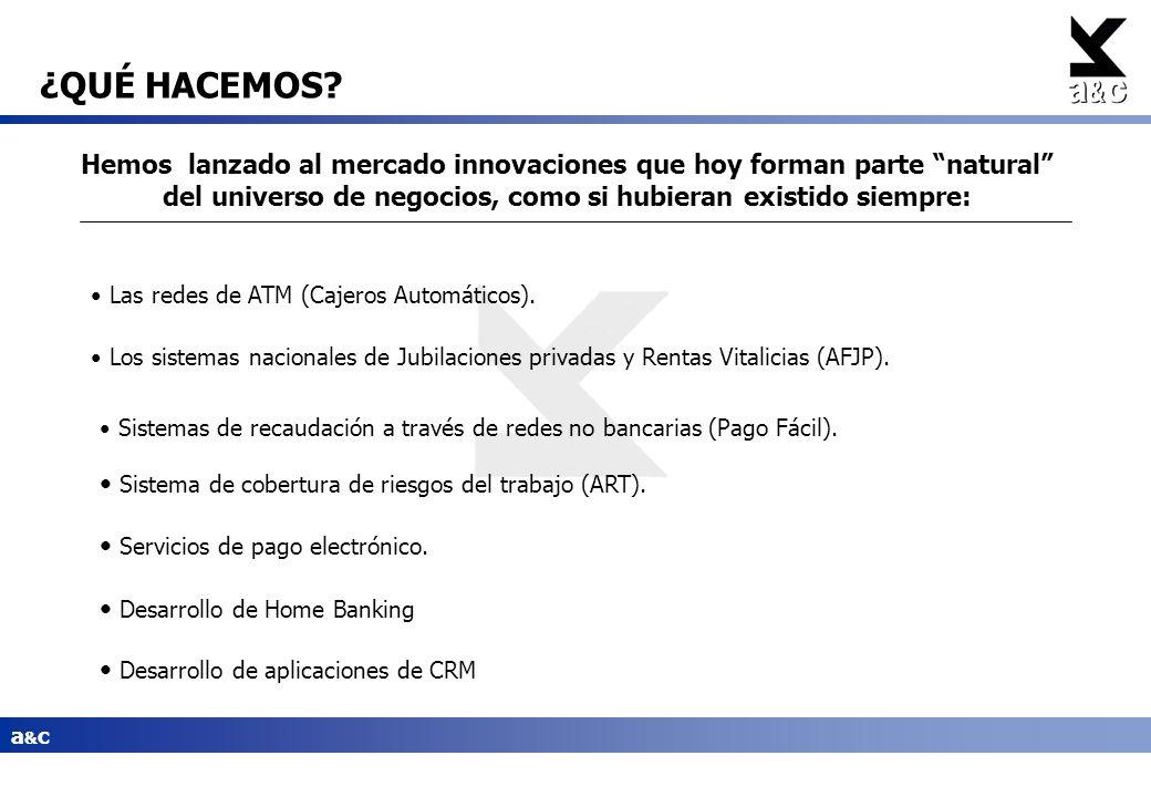 a&ca&c Hemos lanzado al mercado innovaciones que hoy forman parte natural del universo de negocios, como si hubieran existido siempre: Las redes de AT